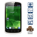 Haier W718  MTK6575 1GHz Waterproof  Android 4.0 3G Smart Phone  4.0 inch Capacitive touch screen Dual SIM WiFi GPS Dual Cameras (White)