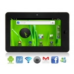 Dropad 7 Android 2.3 Samsung S5PV210 Cotex A8 1.2GHz External 3G Tablet PC with WiFi, G-Sensor, HDMI, Capacitive Touch (Black)