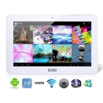 ICOO 7&quot; Android 4.0.3 A13 1.5GHz External 3G Tablet PC with 8G Hard Drive, Wi-Fi, 2160P Video Playback, 5-Point Capacitive LCD Touch Screen (White)