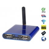 Jesurun MiniXplus Android 4.0 Cortex-A8 1G Cache 4GB Smart Network TV Box with DLAN, Mobile Phone Control (Blue)