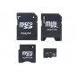 Compact 4 GB Class 4 TF Card with 3 Adapters Set (Black)