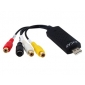 1-Channel USB 2.0 Stereo Audio/ Video Capture Card (Black)