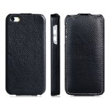 Textured Faux Leather Case for iPhone 5 (Black)