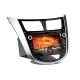 Car DVD Player with GPS Navigation for Hyudai Verna 2011 - Analog TV, BT, 3D UI