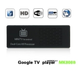 Bluetooth MK808B Dual Core Android 4.1 TV BOX Rockchip RK3066 Cortex-A9 Mini PC Smart TV Stick