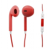 RED STEREO HEAD EAR PHONE POD MIC REMOTE SET VOLUME IPHONE 5/5G/4/4S TOUCH iPod
