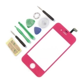 New Replacement Glass Digitizer Touch screen For iPhone 4 4G  Rose