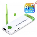 RK3188 Quad Core 1.6Ghz Android 4.1 Mni PC TV Box 1G/8G BT/HDMI Wifi TV Dongle (White)
